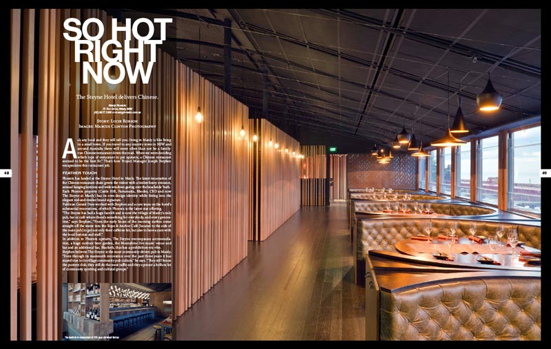 Manly Phoenix - Venue Magazine Article